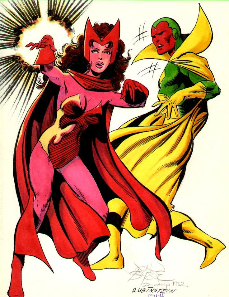The Vision Marvel Comics | 1982 the vision and scarlet witch by john byrne