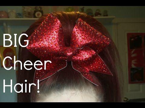 BIG Cheer Hair Tutorial! - YouTube