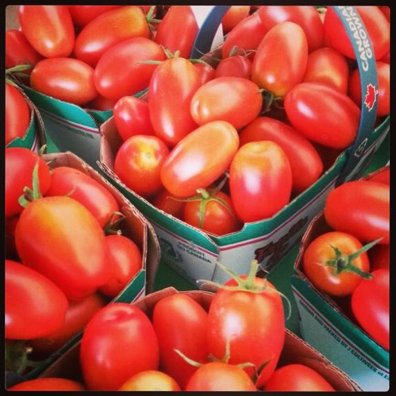 Our awesome grape tomatoes! So delicious!
