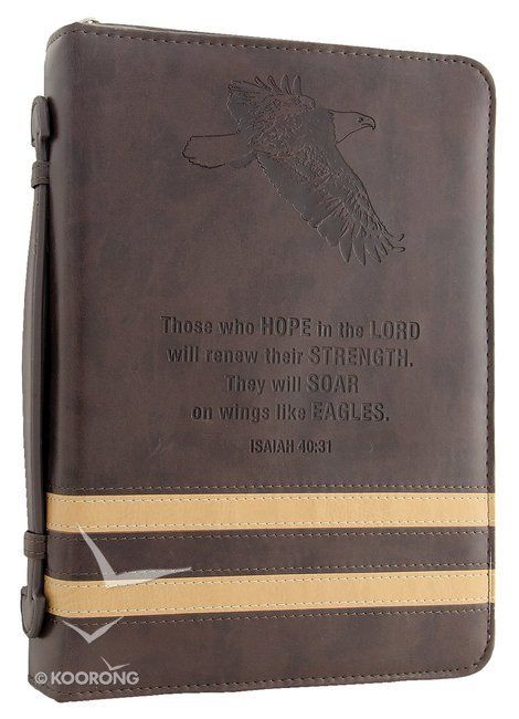 Buy Bible Cover Eagle/Brown Medium Classic Luxleather Online - Bible Cover Eagle/Brown Medium Classic Luxleather Imitation Leather: ID 6006937092907