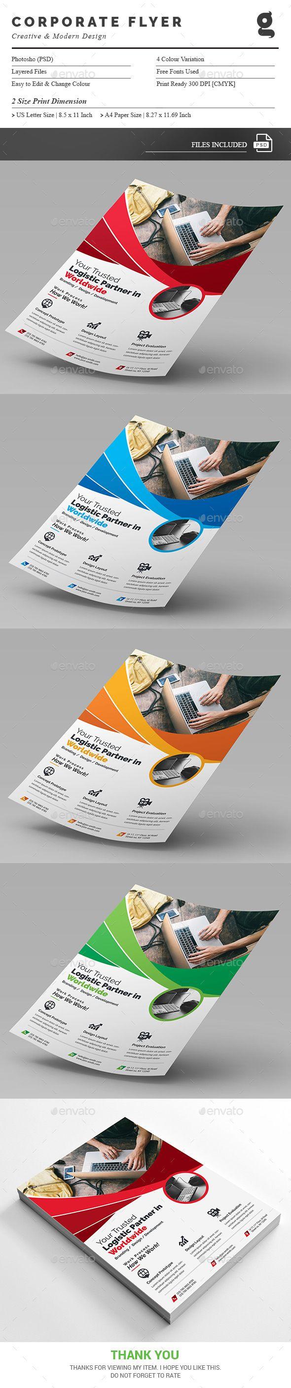 Flyer Template PSD - US Letter & A4 Size #design