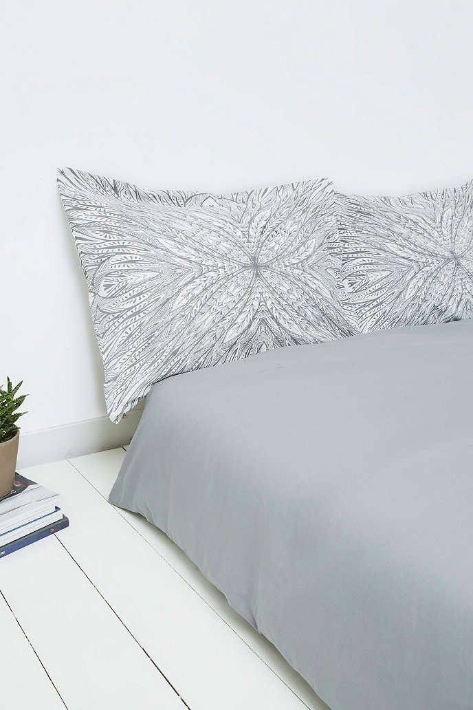 Camedalsha Grey and White Pillowcase Set - Urban Outfitters