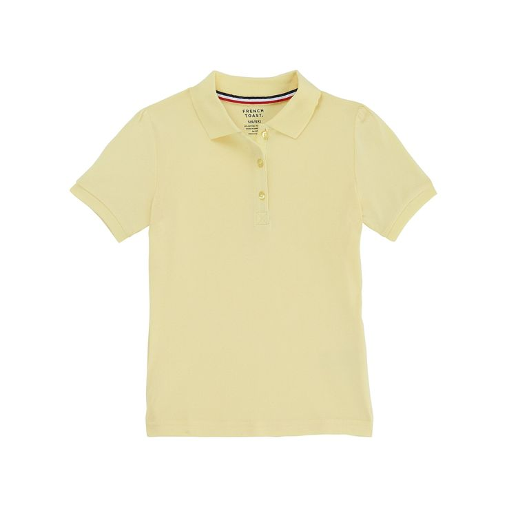 Girls 4-20 & Plus Size French Toast School Uniform Stretch Pique Polo Shirt, Size: 10-12, Yellow