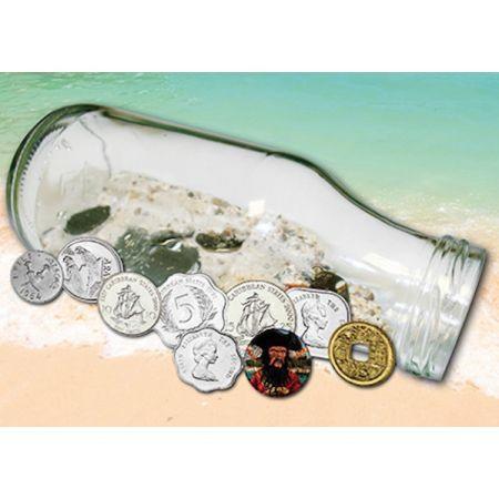 Τo Mυστικό των 9 Νομισμάτων Με αφορμή την ανακάλυψη του παλαιότερου μηνύματος σε μπουκάλι, το οποίο ξεβράστηκε στην στην ακτή της Βόρειας Θάλασσας ύστερα από 108 χρόνια συνεχούς ταξιδίου, δημιουργήσαμε την συλλογή 9 νομισμάτων και τα τοποθετήσαμε πολύ προσεκτικά μέσα σε ένα μπουκάλι για να μας θυμίζει ότι η ελπίδα πάντα υπάρχει. Τα 5 από τα 9 νομίσματα που περιέχονται στο μπουκάλι προέρχονται από τα κράτη της ανατολικής Καραϊβικής με ονομαστική αξία απο 1 έως 25 λεπτά. Επιπλέον…