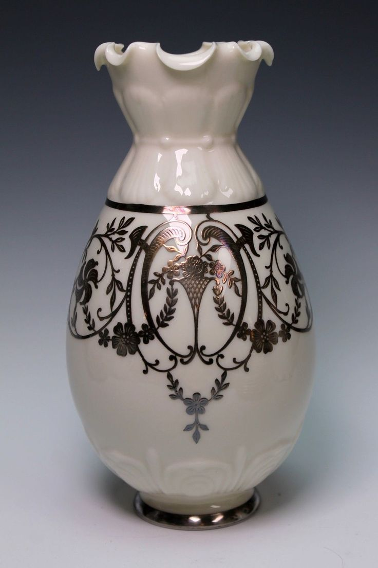 42 best lenox images on pinterest lenox china china and porcelain early lenox green mark porcelain silver overlay china vase ruffled edge floridaeventfo Image collections