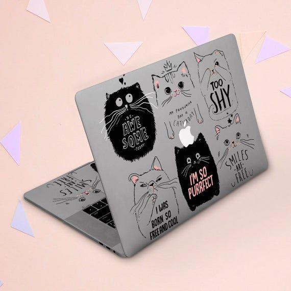 Macbook skin cats Cute animals Macbook clear cover Macbook case art Macbook Pro 13 Macbook Air 13 St