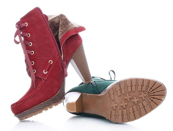 Sboty.cz | Nízké kozačky na podpatku 28502GR | Moderní dámská obuv