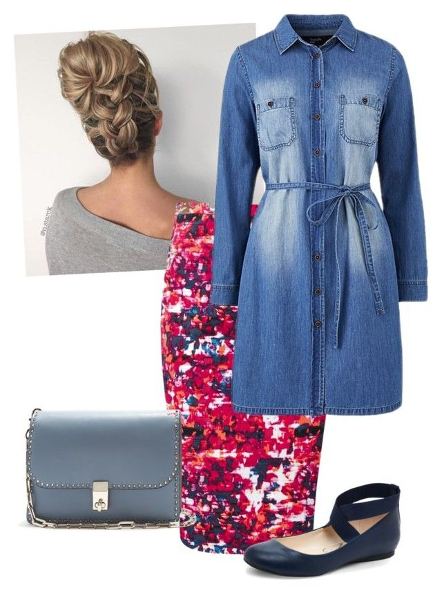 jean n pop by ohraee019 on Polyvore featuring polyvore fashion style Pure Collection Jessica Simpson Valentino clothing