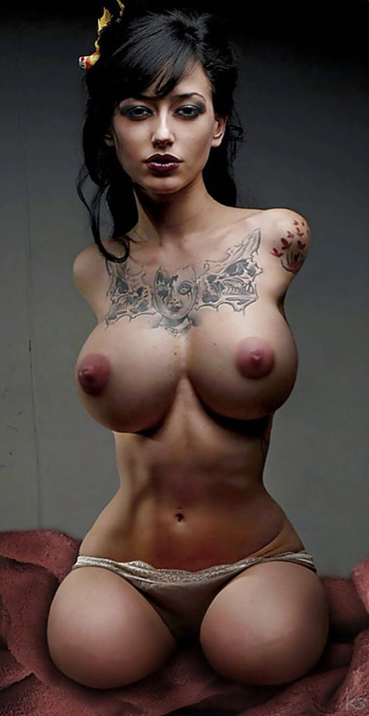 big tits tattoos naked women