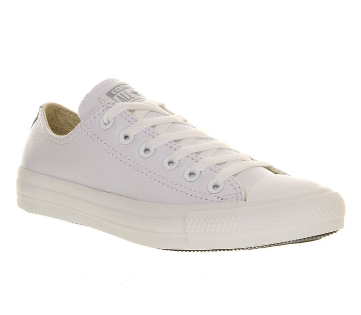 Converse Allstar Low Leather White Mono Leather - Unisex Sports