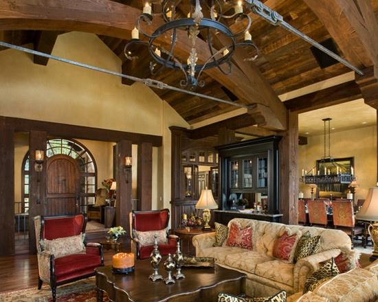 15 best home wood ceilings beams images on pinterest for Rustic elegant living room