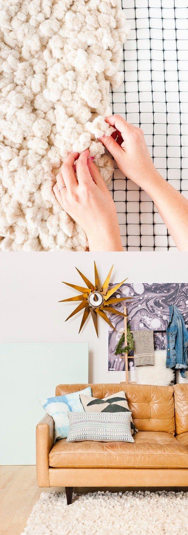 Cómo tejer una alfombra fácilmente - papernstitchblog.com - DIY Large-Scale Rug From Scratch
