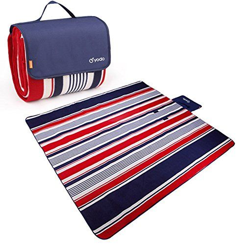 Yodo WaterResistant Outdoor Picnic Blanket Tote with Handle and Soft Padding ** Continue to the product at the image link.