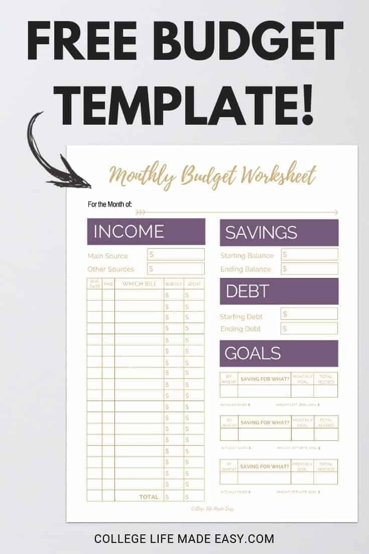 Fix Your Finances Asap With My Free Simple Monthly Budget Template Budget Template Free Monthly Budget Template Free Budget Printables