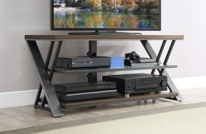 "Whalen Furniture - TV Console for Most Flat-Panel TVs Up to 55"" - Medium Brown - AlternateView15 Zoom"
