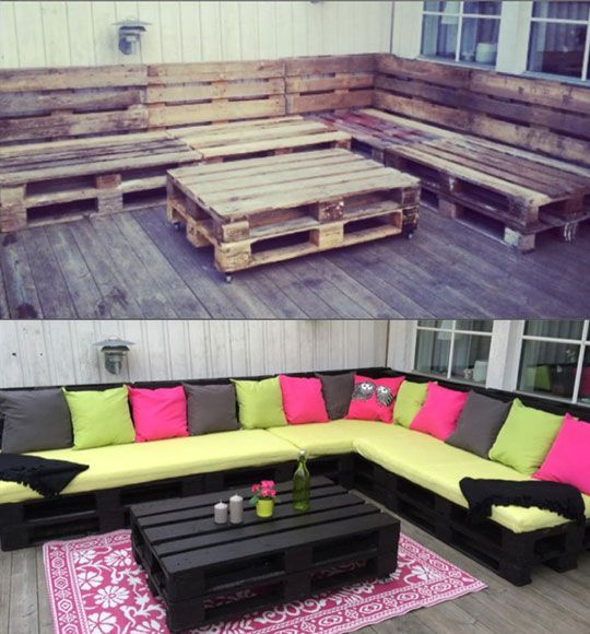 Are You In Need Of a Couch Set   another pallet idea