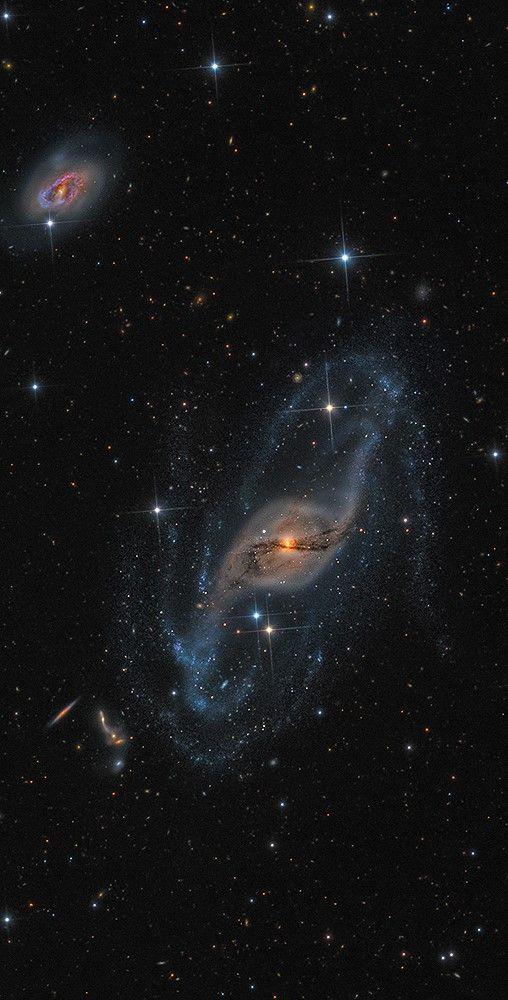 NGC 3718 (Arp 214),Warped Spiral Galaxy Distance: 42.4 Million Light Years