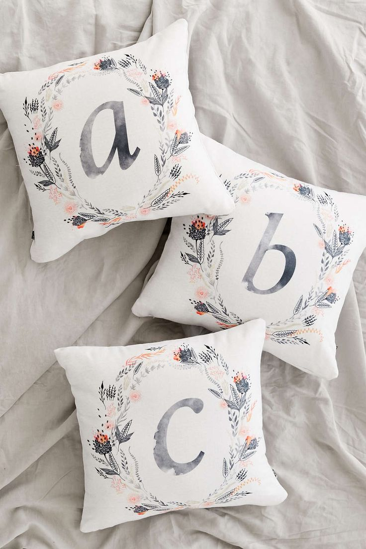 Iveta Abolina For DENY Pink Summer Monogram Pillow - Urban Outfitters
