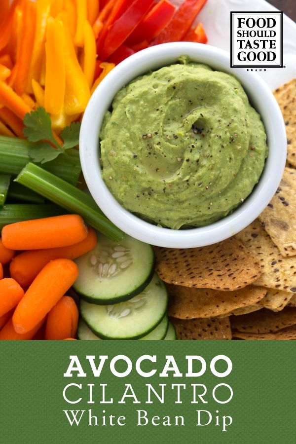 This creamy white bean dip comes to life with the flavors of avocado and fresh cilantro. It's made easy in the blender and pairs perfectly with Food Should Taste Good™ Multigrain Tortilla Chips or Sweet Potato Tortilla Chips.