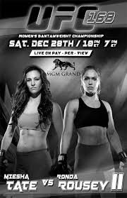 fan-made UFC 168 Rousey vs. Tate 2 fight poster