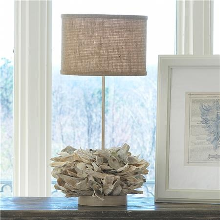 Oyster Shell Candlestick Table Lamp 2 Colors Stacks Of Hand