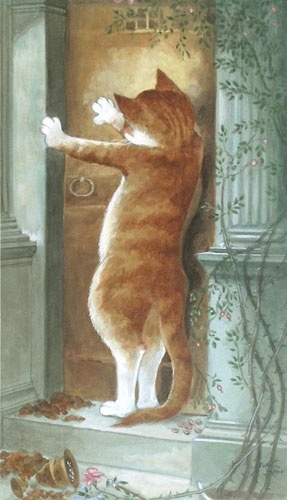Art by Susan Herbert. #cats #art #cute
