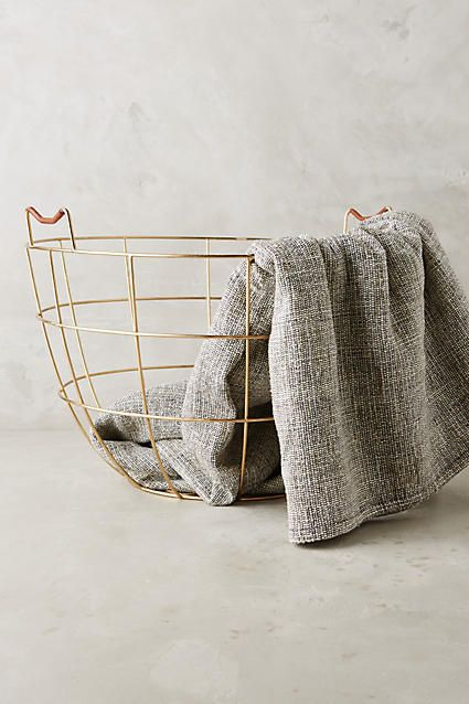 Fincher Wire Basket - anthropologie.com