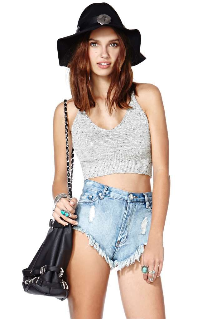 The Right Gray Crop Top | Shop Sale at Nasty Gal