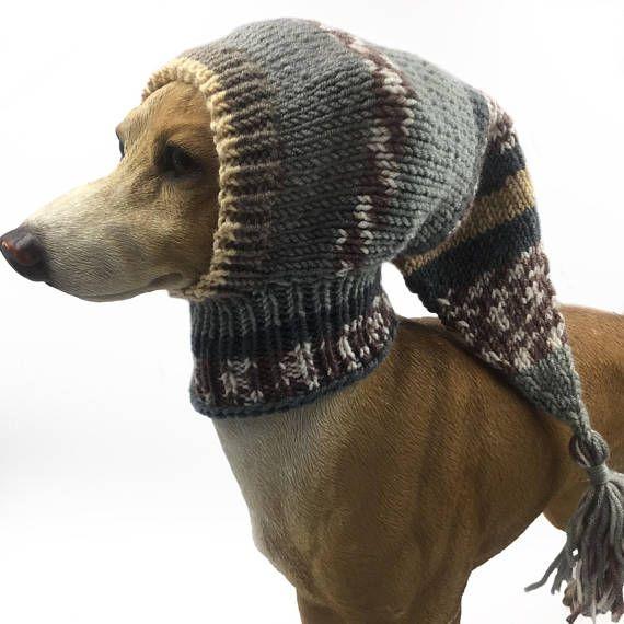 Grau Greyhound Snood, Hund Hut, italienische Windhund Hut