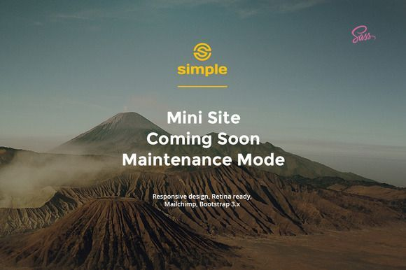 cool Simple – Mini Site | Coming Soon   CreativeWork247 - Fonts, Graphics...