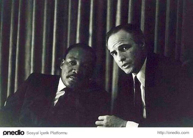 Martin Luther King ve Marlon Brando, 1968