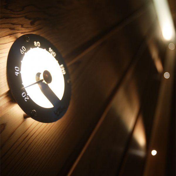 Sauna Gadget - Helo lit thermometer