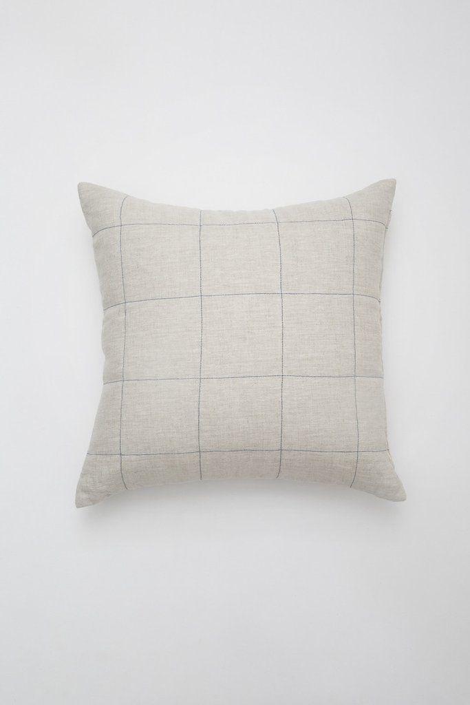 Natural Grid Pillow