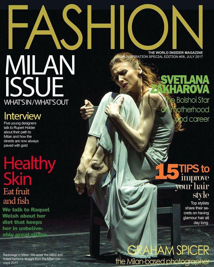 'Fashion' magazine with my photo of Svetlana Zakharova on the cover and interview   Thanks David and Anna  #zakharova #ballet #dance #dancersfeet