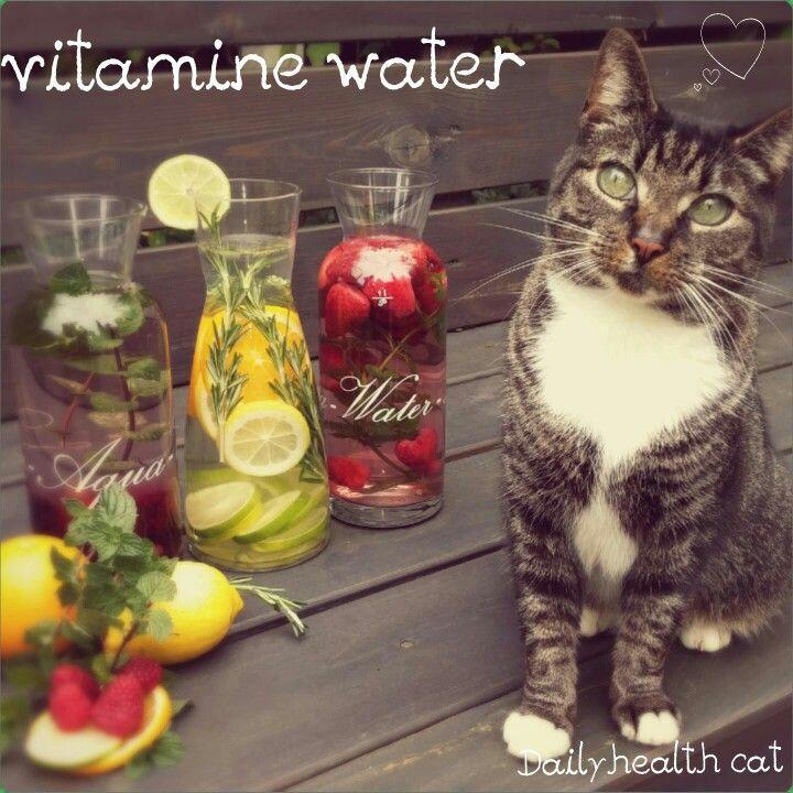 Vitamine water, smaak naar eigen keuze : citroen,limoen, aardbeien,bramen,munt,rozemarijn