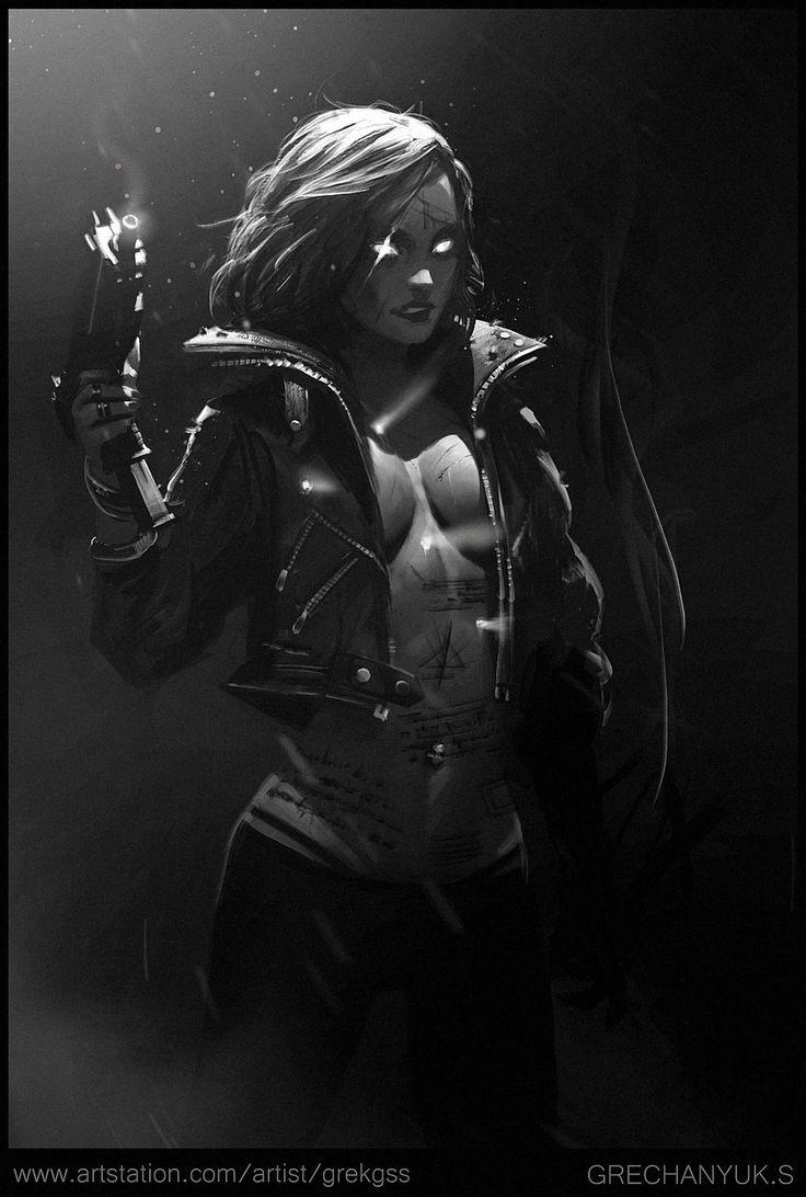 Diablo Demon Hunter Redesign, Sergey Grechanyuk on ArtStation at https://www.artstation.com/artwork/diablo-demon-hunter-redesign