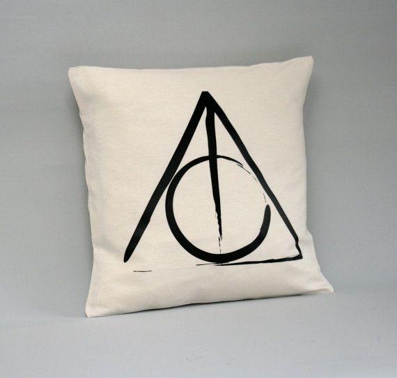 Housse de coussin de Harry Potter - Deathly Hallows coussins/couverture - Harry Potter-coussins - 16 x 16, 18 x 18, 20 x 20, 24 x 24, 26 x 26-