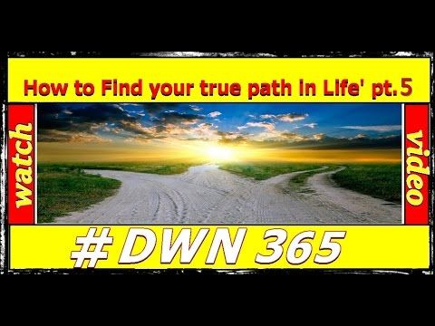 #DWN365 'How to find your true path in Life' Part 5