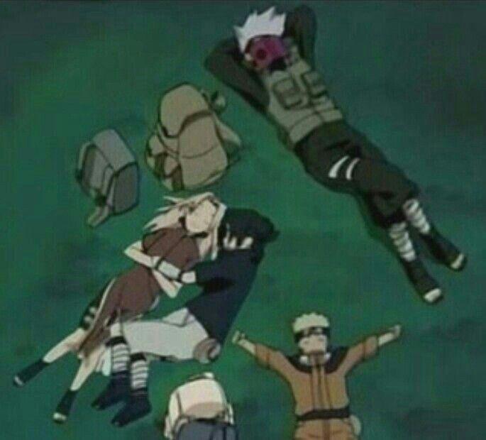 Team 7, Sakura, Sasuke, Naruto, Kakashi, book, sle…