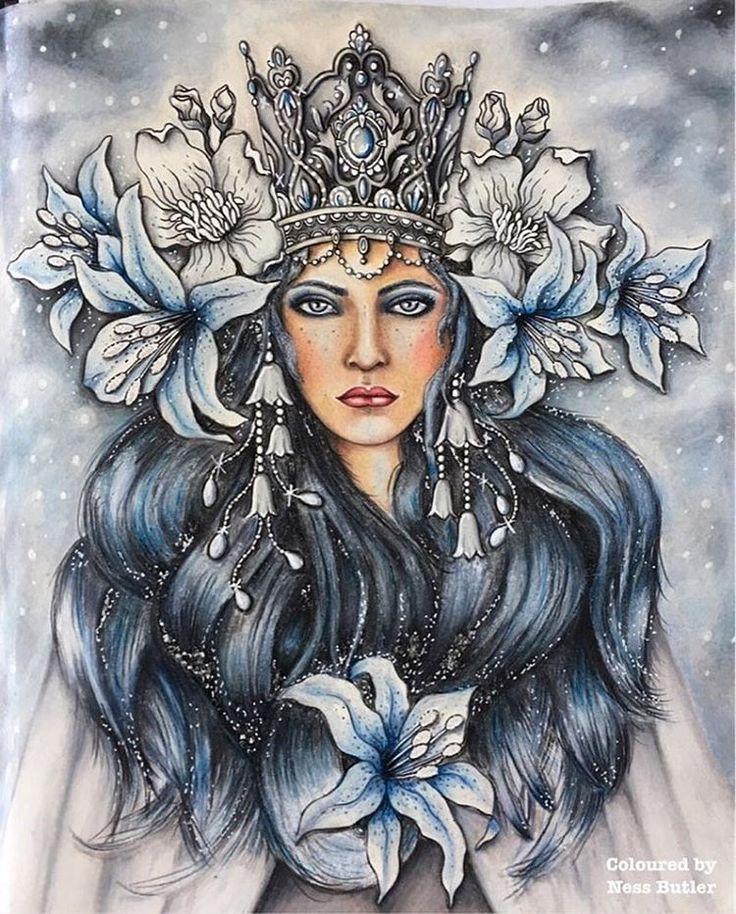 Rainha do gelo maravilhosa!!!! Repost from @forestlovecolouring ️ #hannakarlzon#artecomoterapia…