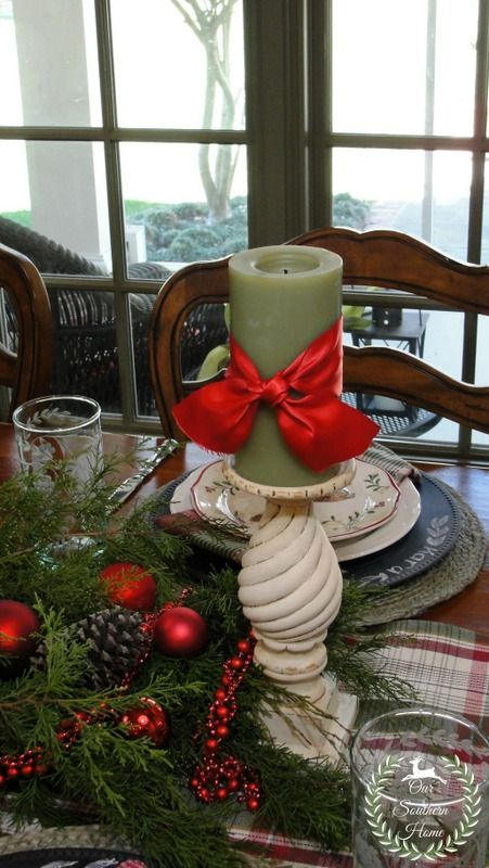 French Country Casual Tablescape from Our Southern Home #christmas2013 #christmas #frenchcountry #frenchcountrychristmas