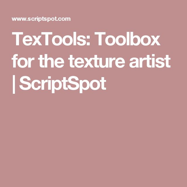 TexTools: Toolbox for the texture artist | ScriptSpot
