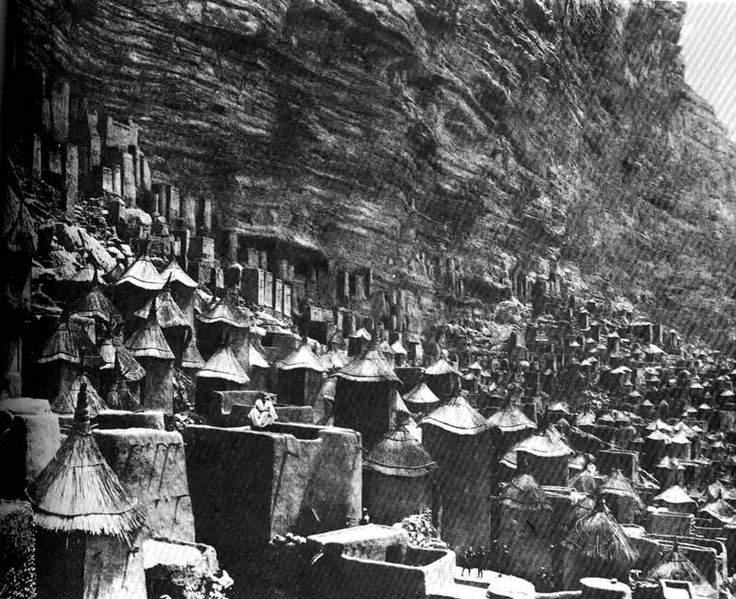 "Cliff dwellings of the Dogon tribe (Sudan), from Bernard Rudofsky's ""Architecture Without Architects"""