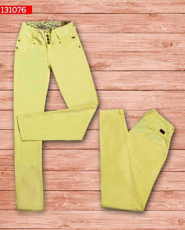 Pantalon-dama-color amarillo-bota-recta-ref-131076- #fashion #women #ropademoda