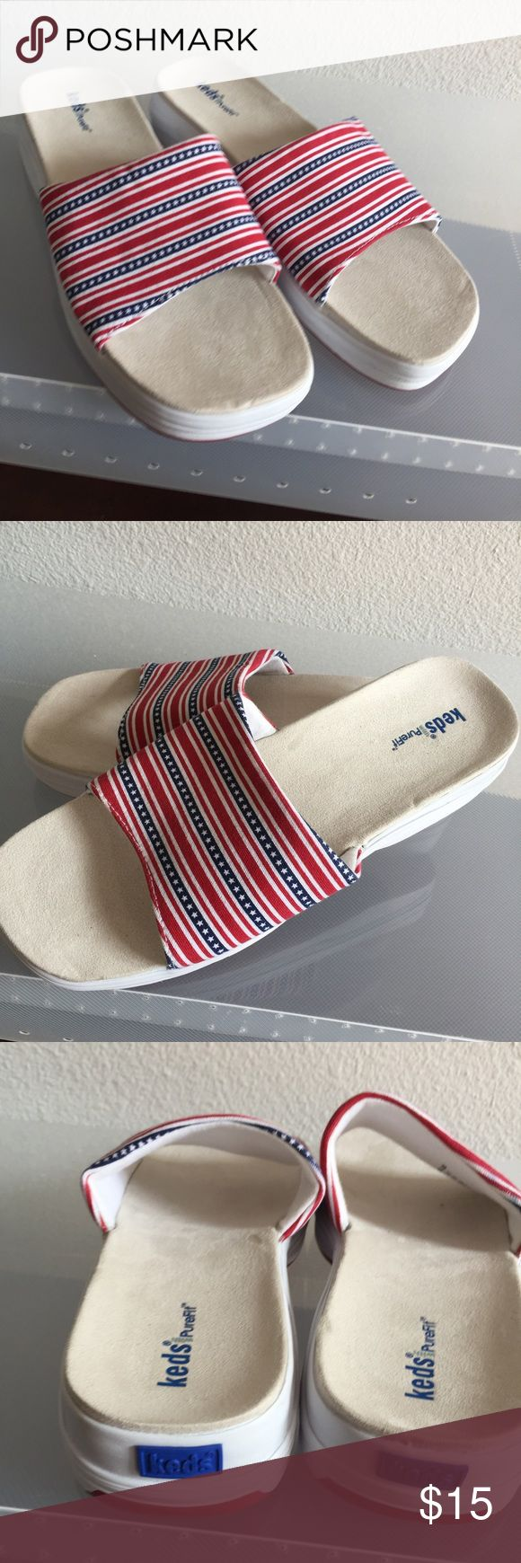 WOMANS KEDS SLIP ONS VERY COMFORTABLE SHOE GREAT ARCH SUPPORT....VERY EASY TO WALK IN KEDS Shoes Mules & Clogs