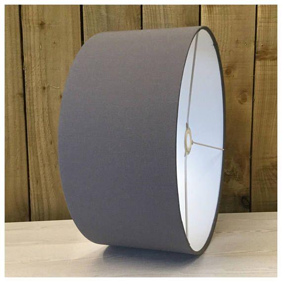 Mid Grey Drum Lamp Shade Lightshade Ceiling Pendant 25cm 30cm