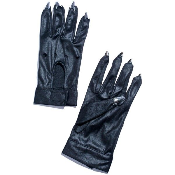 Claw Motorcycle Gloves ($12) ❤ liked on Polyvore featuring accessories, gloves, motorcycle gloves, leg avenue, knuckle gloves, silver gloves and claw gloves