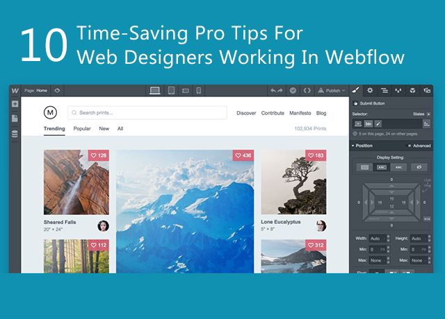 Web Designers Are Quite Familiar With Webflow Which Is A Pretty Straightforward Tool Here 10 Time Saving Pro Tips Ar Web Design Web Development Design Design