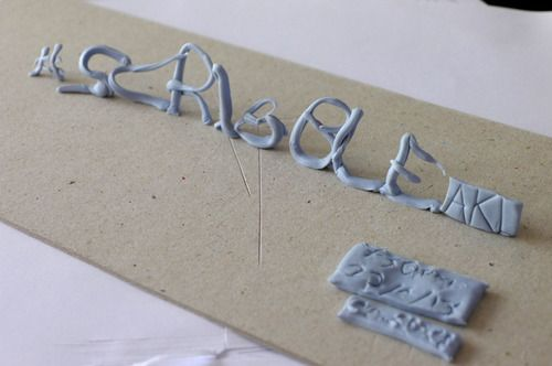 #scribbleAKL no.76 flyer. Made from blu-tack / poster putty. By @creativeBhav, April 2013.