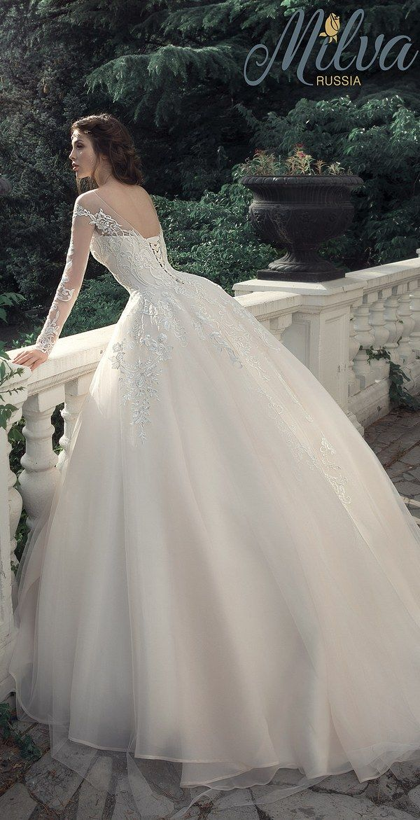Milva Bridal Wedding Dresses 2017 Leontia / http://www.deerpearlflowers.com/milva-wedding-dresses/5/